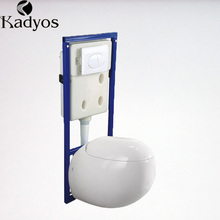 Hot sale wc sanitary wares porcelain egg shape wall hung toilet