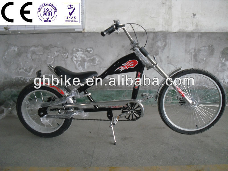 24-20 black men single speed chopper bike