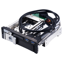 Unestech ST7226U 3.5+2.5 Inch Dual Bay Internal Mobile Rack HDD Enclosure with 2x USB 3.0 Ports