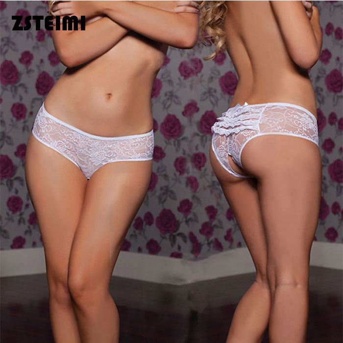 On Sales Lace Bikini Girl Open Crotch Panty Hot Sex Modal Women Underwear