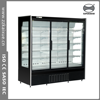 Supermarket 3 glass door upright display cooler showcase for beverage, dairy and sausage