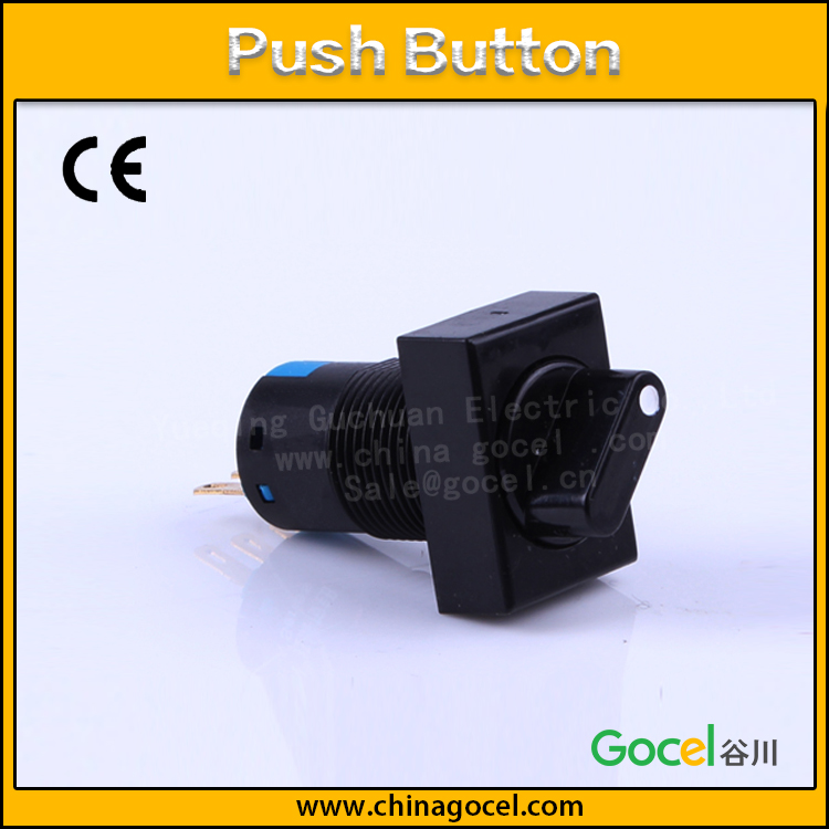 micro 16mm 1NO1NC rotary button 2 position maintain 3 pin push button switch S1-AJ-11X/2