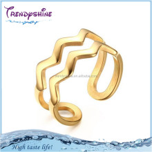 New design custom manufacturer gold titanium metal open d ring