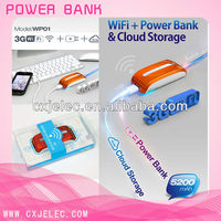emergency 3g wifi router wireless power bank charger