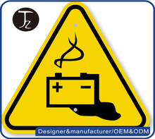 Wholesale stainless steel yellow electrical warning sign