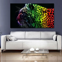 Abstract Cheetah Animal Pictures Print Canvas Painting