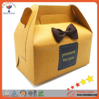 Custom design cheap paper box package with handle for bakery