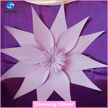 different color paper handmade flower church backdrop decoration