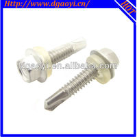 Washer head self drilling screws and gaskets