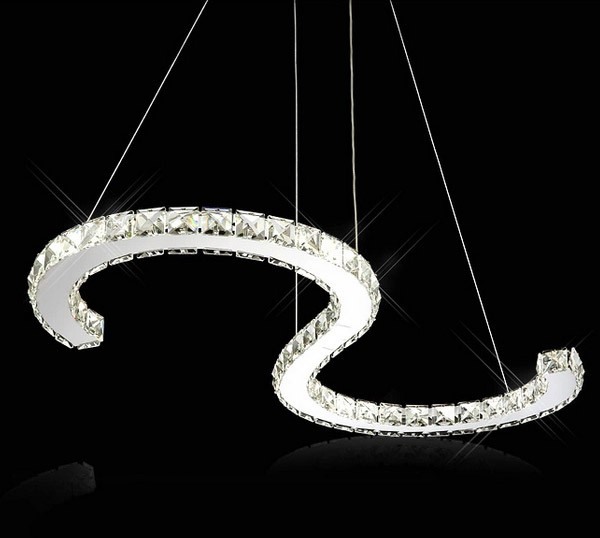 2016 Home decorative led crystal hanging light