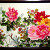 China Peony Handmade Tapestry Floral Decorative