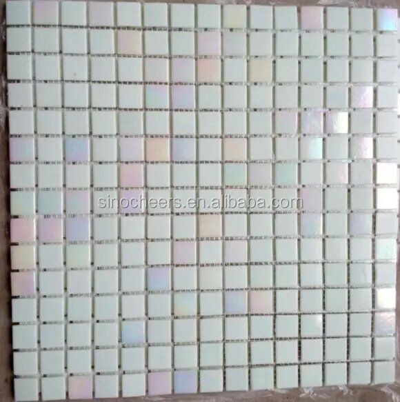Rainbow White Recycle Glass Mosaic Tile For Decorative