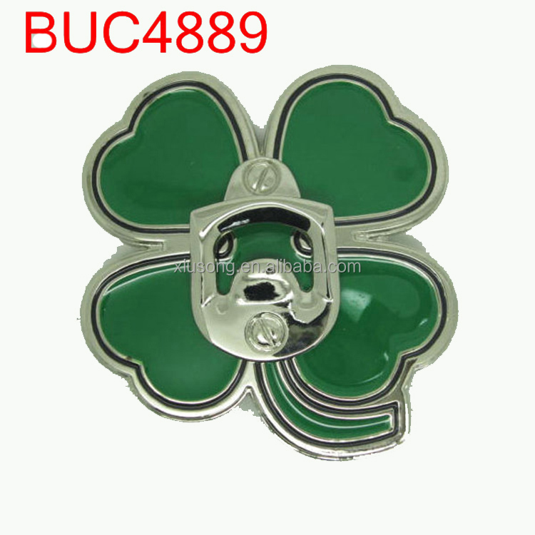 BUC4889 Sam franke thies flowers Ireland Four Leaf Clover belt buckle wholesaler