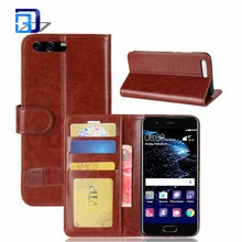 New Mobile Phones And Accessories PU Leather Flip Folio Kickstand Wallet Case Cover with Card Slots For Huawei P10