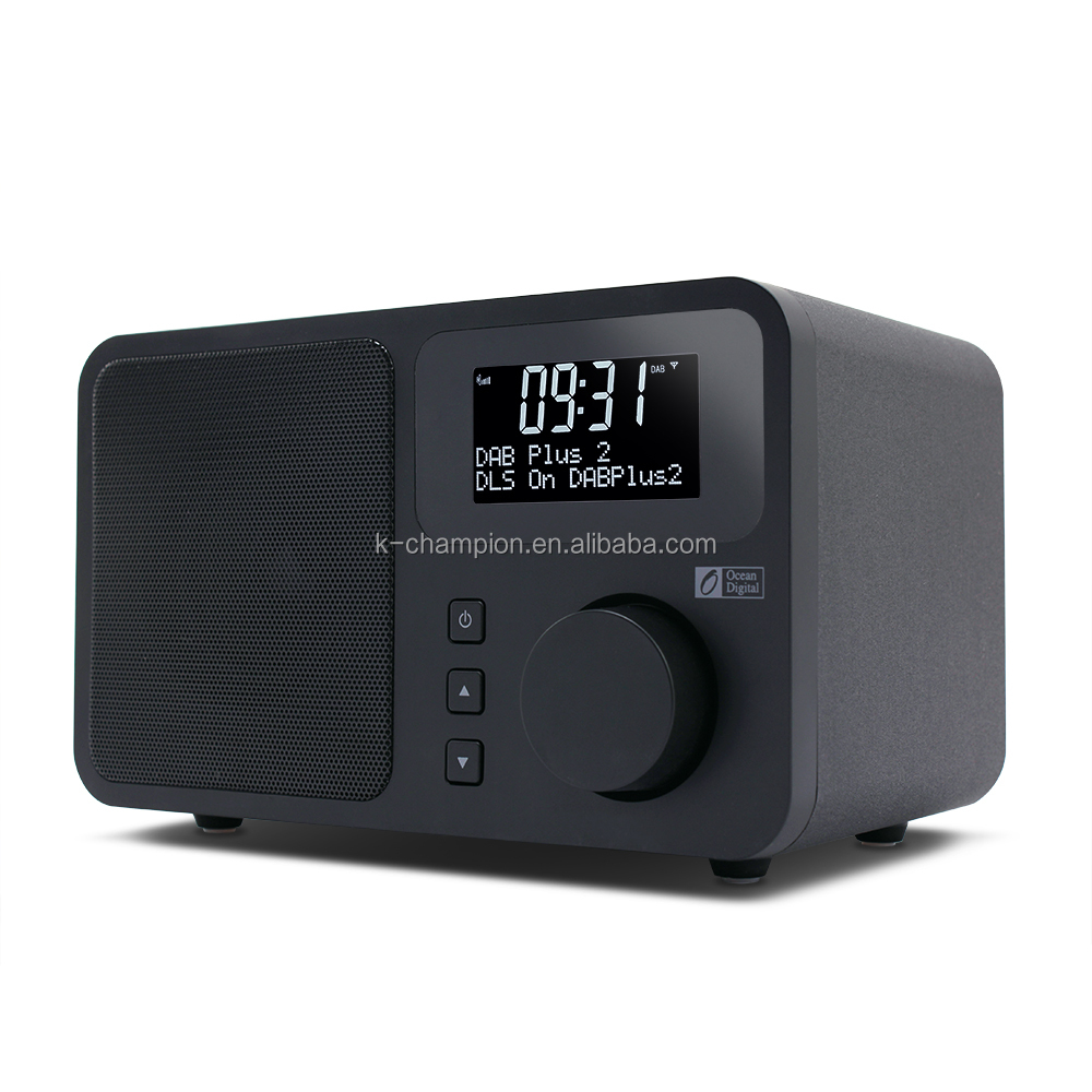 2017 HK Electrionics Fair Wooden Case FM DAB Radio Bluetooth Alarm Clock Radio