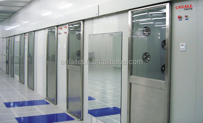 Iso7 clean room enclosed air jet shower room