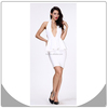 High fashion white backless dress evening cocktail dress plus size bandage dress
