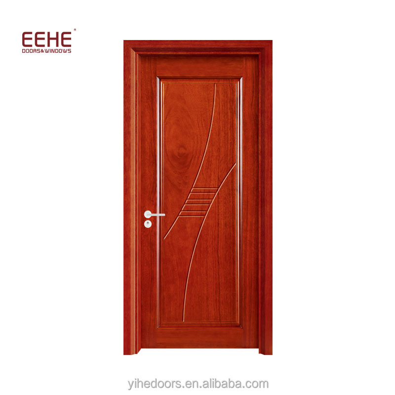 Cheap interior PVC door, MDF wooden doors with melamine board