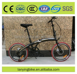 Top selling fashionable steel/aluminum folding bike/foldable bicycle with F/R disc brake 6speeds