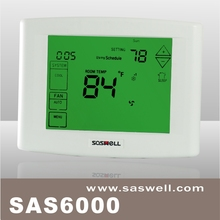 SASWELL Wall Mount Wireless TH9320WF5003 Wi-Fi 9000 Color Touch Screen Programmable Heat Pump Thermostat, 3.5 x 4.5- Inch, White
