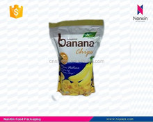 banana chips plastic snack packaging bag with zipper