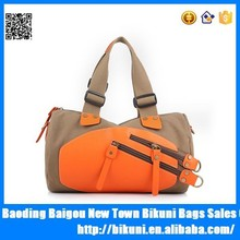 China supplier korea fashion ladies single shoulder canvas bag