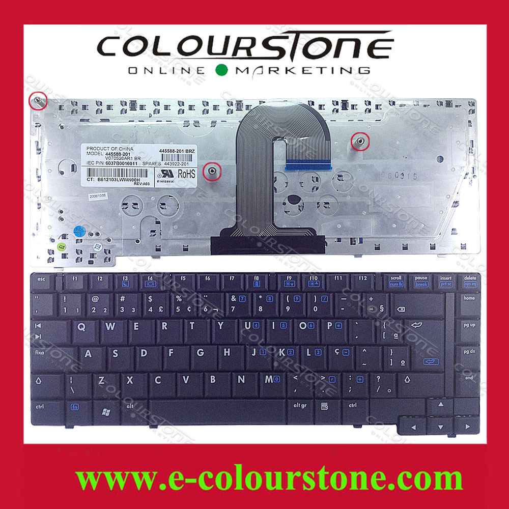 For HP Compaq 6510 6515 6510B 6515B series QWERTY Replacement Laptop Keyboard Brazil layout BR Teclado Black keyboard