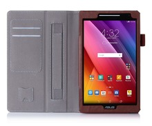 Custom Leather Protective Cover With Card Slots Shockproof Flip Tablet Case For Asus Zenpad 8 Z380