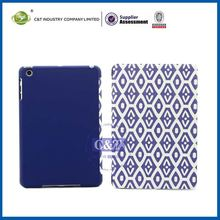 C&T Magnetic smart blue leather folio stand case skin for ipad mini