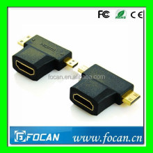 HDMI female to Mini HDMI male + Micro HDMI male Adapter