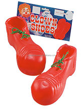 Kids Book Week Clown Shoes Footcover Childs Red Fancy Dress Party Circus Accessory LD2015