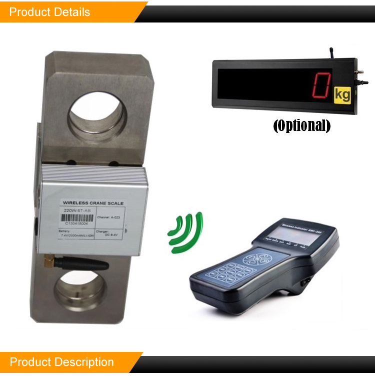Tension Load Cell 1 3 5 10 ton Digital Dynamometer Wireless Crane Load Cell Scale