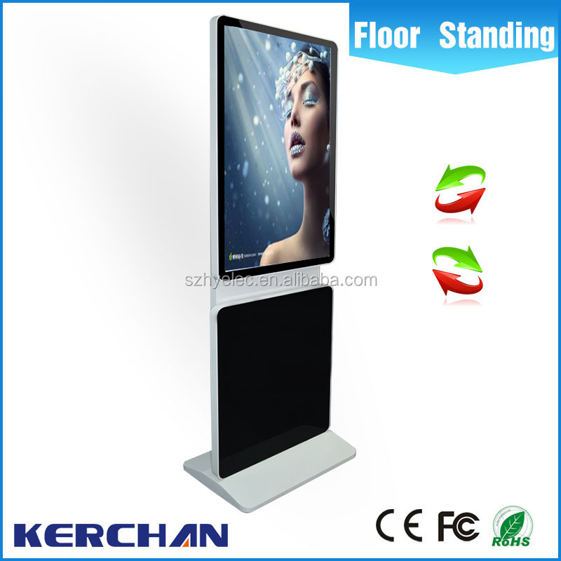 2016 New product lg 42 inch tv lcd display panel/touch screen kiosk totem lcd display with free download ads LCD screen Rotated