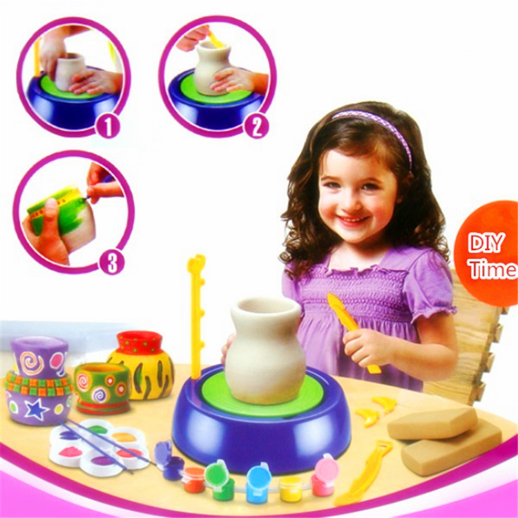 DIY Kids Educational Toys Pottery Wheel