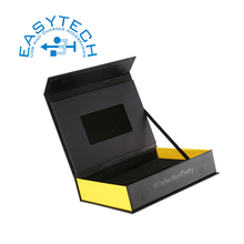 Et-digital 4.3 inch digital lcd video mailer/video brochure card box custom printed lcd gift promotional video card