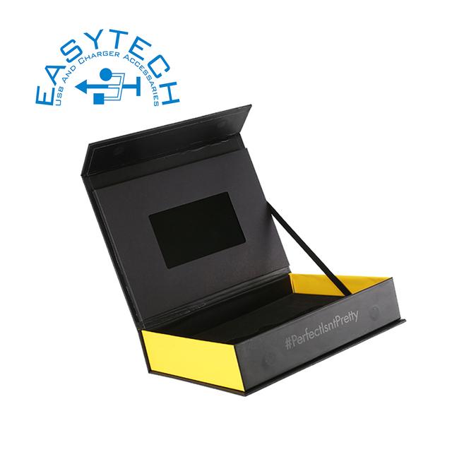 Et-digital 4.3 inch digital lcd video mailer/video brochure card box custom printed lcd gift promotional video card