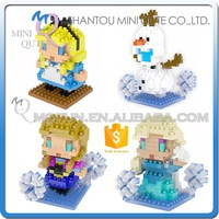 Mini Qute wholesale Kawaii movable joints Plastic cartoon Frozen doll princess anna & elsa olaf girls with Olaf kid children toy
