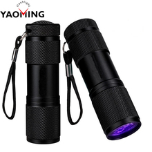YM-809 Promotional Item Advertising Flash Torch Multifunctional 365nm 9 LED UV Flashlight