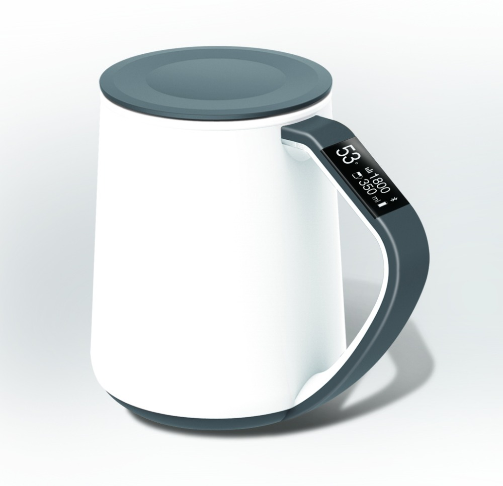 Beautiful Cup Mugs Smart Oled Display Tea Mug 350ML