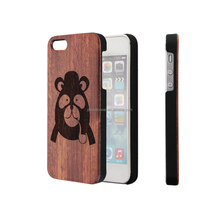 OEM Wooden Phone Case Cover for iPhone 7, Engraving Mobile Phone Cover Case for iPhone 5,for iPhone 6