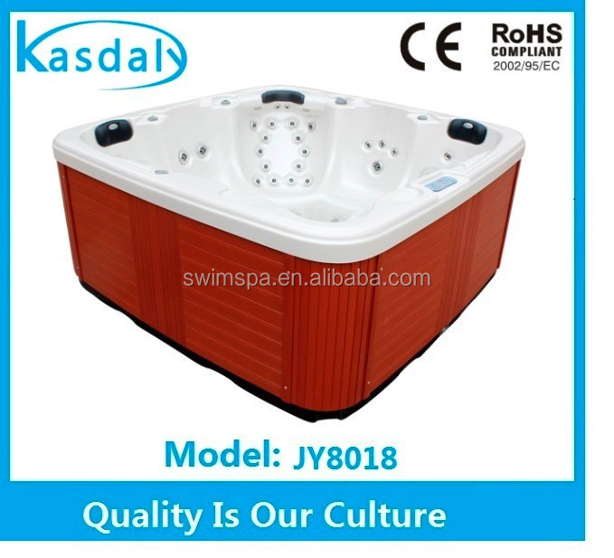 retail 5 person plastic and wood skirt sex family spa hot tub