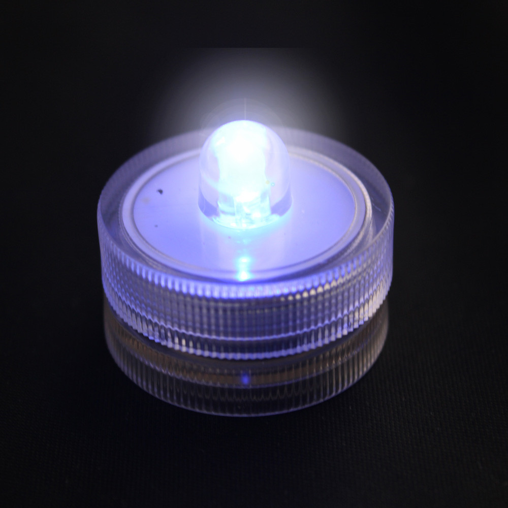 Round Submersible LED FloraLytes / LED Waterproof Vase Tea Light Candle