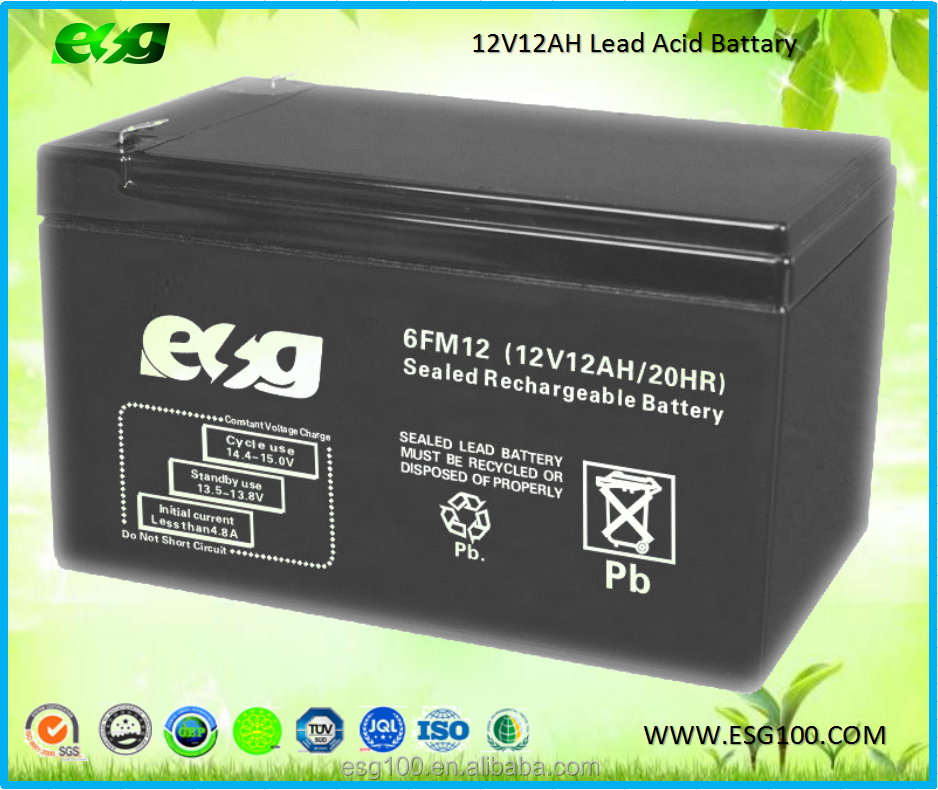 12v 12ah sealed lead acid 12v rechargeable deep cycle storage vrla solar gel battery battery batteries