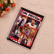 Custom a5 spiral notebook printing with dividers