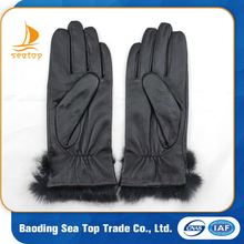black high quality pigskin leather dress gloves
