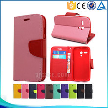 Mobile phone accessory pu magnetic leather flip cover for Nextel S520 case