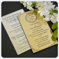 Luxury design acrylic invitation cards make you unforgetable wedding