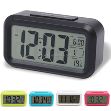 Digital Backlight Time Date Temperature Display LED Alarm Clock Repeating Snooze Light activated Sensor