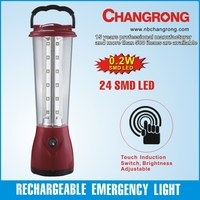 Rechargeable portable emergency&automatic led light lantern with touch induction switch