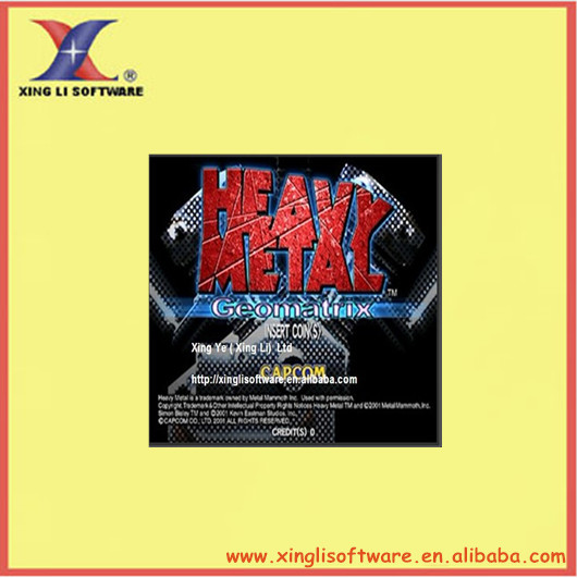 Heavy Metal:Geomatrix for combat shooting/arcade game /JAMMA PCB/computer board(XL-CB04)